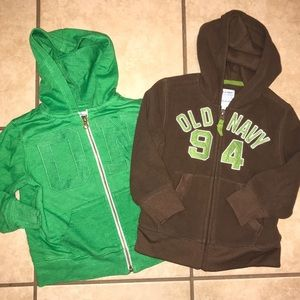 Two old navy hoodies